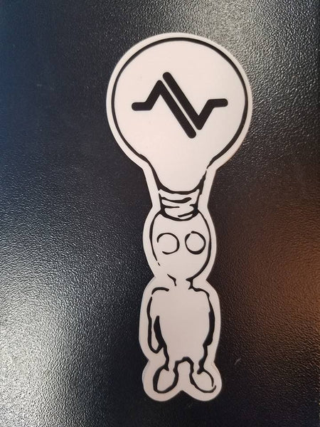 AVENUE LIGHT BULB STICKER - 1LT2F