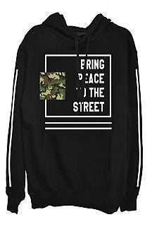 BRING PEACE TO THE STREETS MEN'S HOODED SWEATSHIRT - 1LT2F