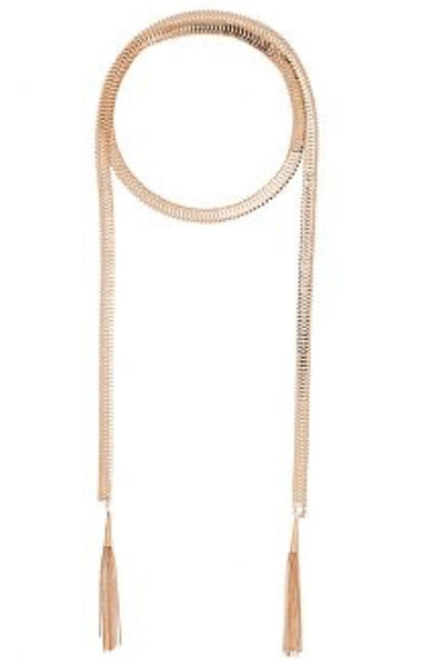 THICK SNAKE CHAIN WITH TASSEL - 1LT2F