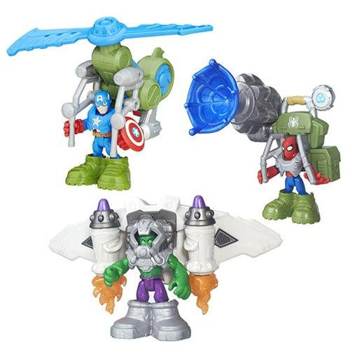 MARVEL SUPER HERO ADVENTURES DELUXE MINI-FIGURES WAVE 1 - 1LT2F