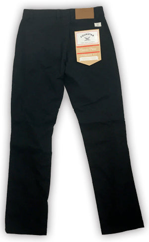 FOURSTAR CLASSIC CHINO BLACK STANDARD FIT PANTS - 1LT2F
