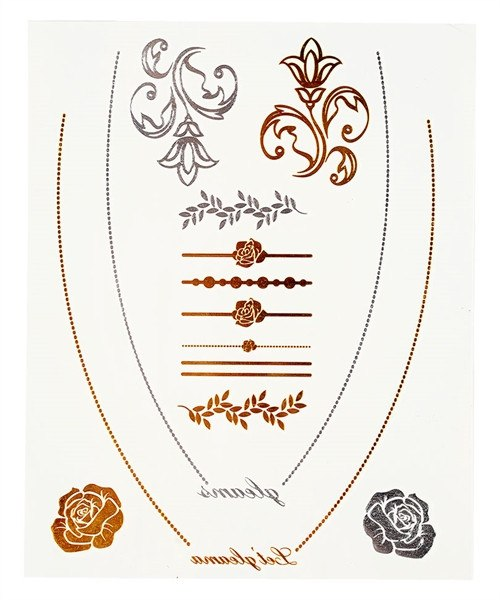SILVER AND GOLD TEMPORARY TATTOOS - 1LT2F