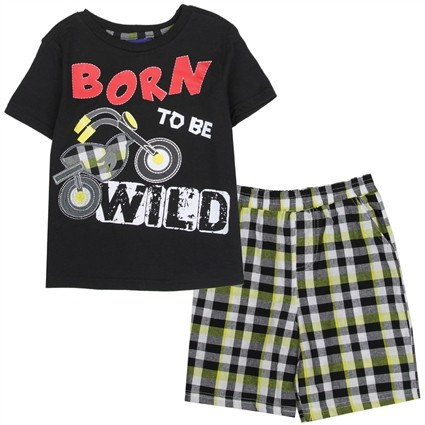 "Motorcycle Short Set for Boys ""Born to Ride'' - 1LT2F"