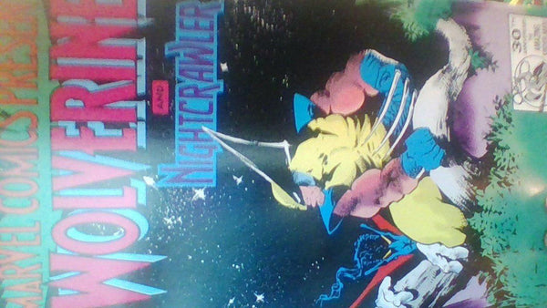 Comic Book - MARVEL COMICS PRESENTS WOLVERINE AND NIGHTCRAWLER/ GHOST RIDER AND DR STRANGE #104 1992