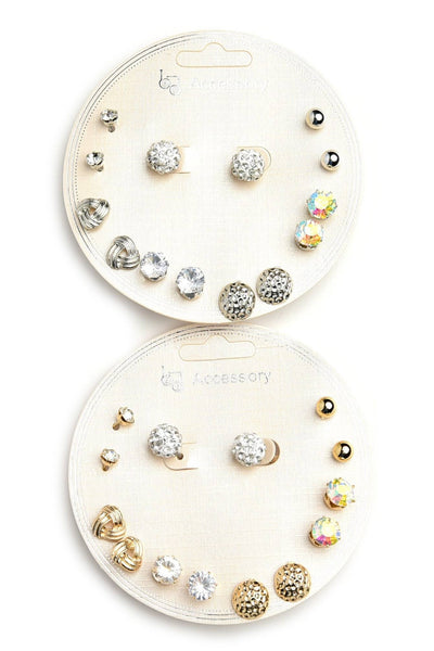 EARRINGS - STONE & PEARL SHAPE EARRINGS