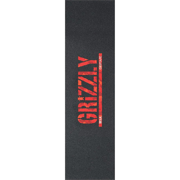 Grip Tape - GRIZZLY 1-SHEET MSA CAMO STAMP BLK/RED CAMO OR BLK/BLK