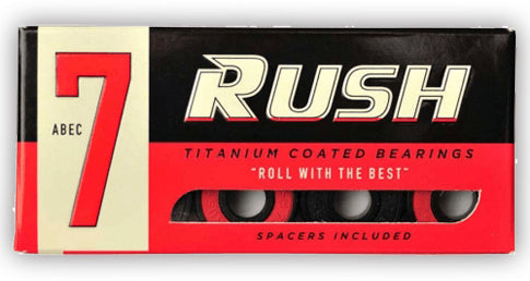 RUSH ABEC 7 BEARINGS WITH SPACERS SINGLE SET - 1LT2F