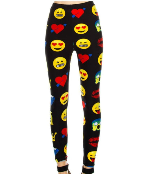 LEGGINGS - EMOJI PRINT LEGGINGS