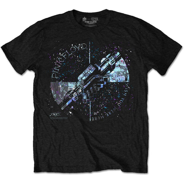 LICESENED T-SHIRT - PINK FLOYD MEN'S SPECIAL EDITION TEE: MACHINE GREETING BLUE