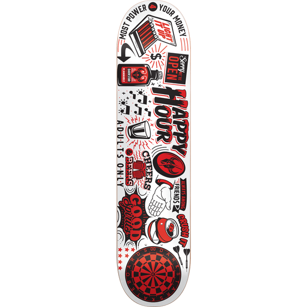 SKATE DECK - DARKSTAR ONWARD DECK-8.12 WHITE Ppp