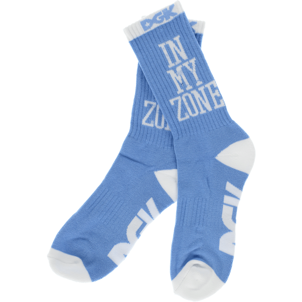 Socks - DGK IN MY ZONE CREW SOCKS LT.BLU/WHT