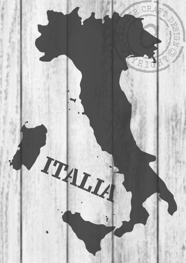 Map of italy stencil laser craft design map of italy stencil gumiabroncs Images