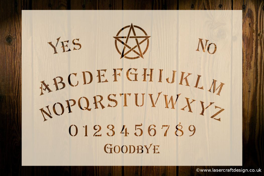 Ouija Board Stencil Various Sizes Available Free Uk Pp Laser