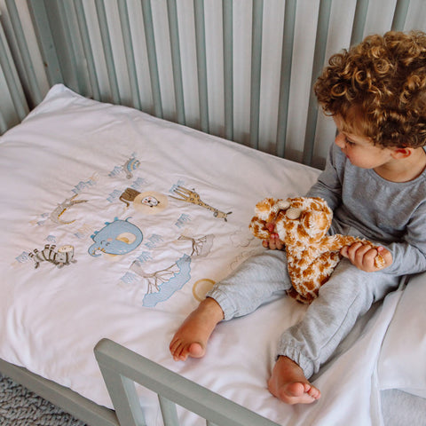 Egyptian Cotton Embroidered Cot Duvet Cover Sets