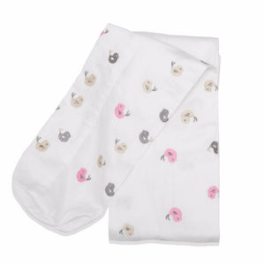 Embroidered Pink Baby Birds Cordless Cot Bumper Cover