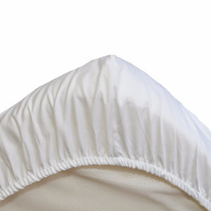 Egyptian Cotton Cot Fitted Sheet (56x118cm) underneath