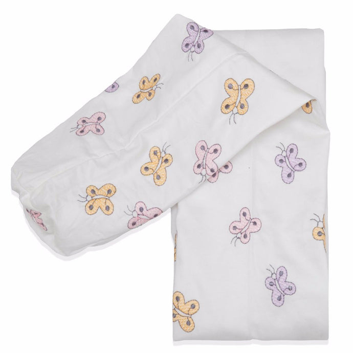 Embroidered Butterflies Cordless Cot Bumper Cover
