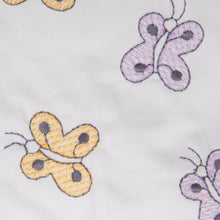 Embroidered Butterflies Cordless Cot Bumper Cover detail