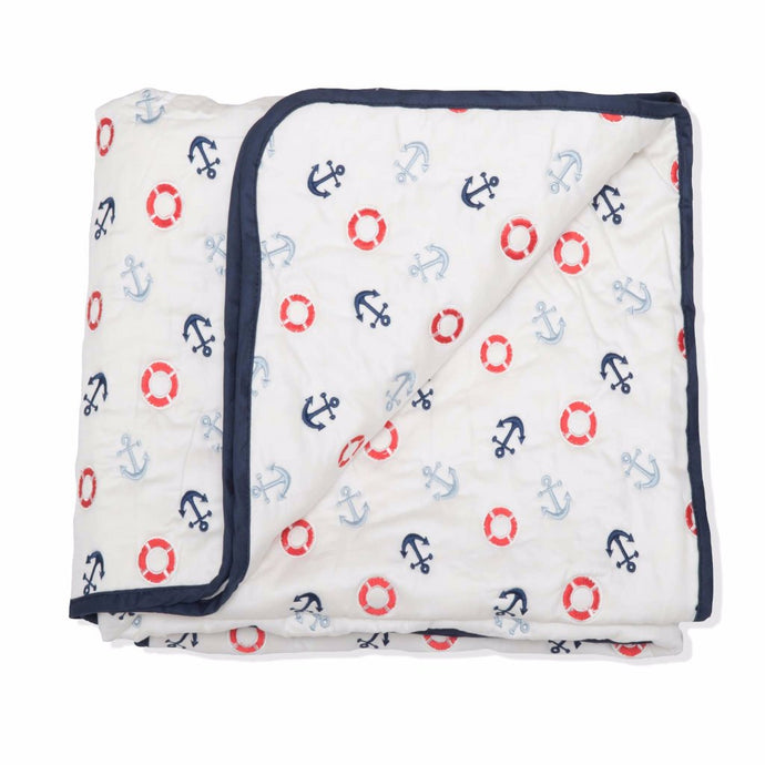 Sail Away Cotton Quilt/Playmat