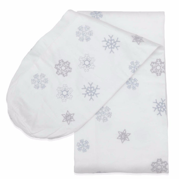 Embroidered Snowflake Cordless Cot Bumper Cover