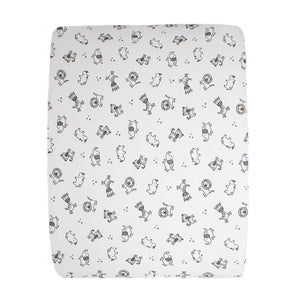 little acorn | African Safari Changing Mat Cover