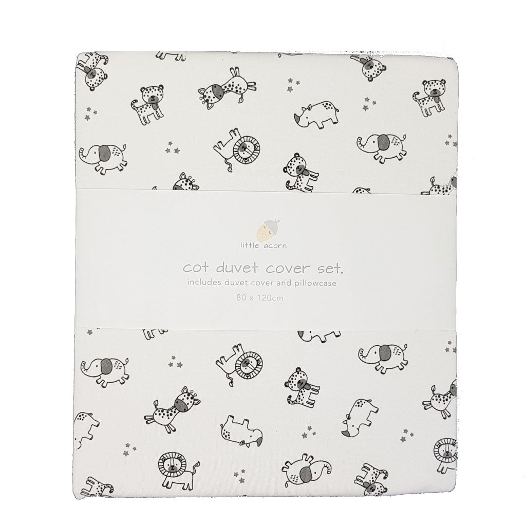 little acorn | African Safari Cot Duvet Cover Set