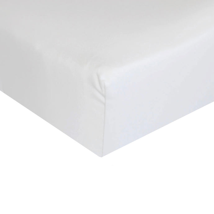 Egyptian Cotton Cot Fitted Sheet - white - Babes & Kids Cot Baby Bedding