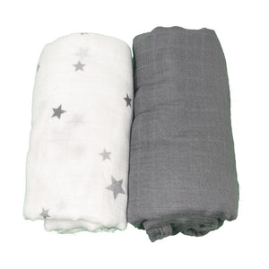 **COMING SOON** Bamboo/Cotton Muslin Swaddle Blanket Set (grey)
