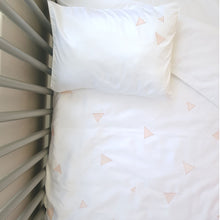Triangle Cot Duvet Set (blush) - Babes & Kids Cot Baby Bedding