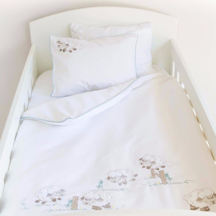 Counting Sheep Egyptian Cotton Baby Duvet Cover Set