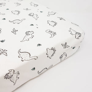 little acorn | Dinosaur Cot Fitted Sheet - Babes & Kids Cot Baby Bedding