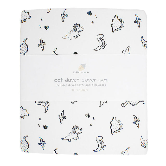 little acorn | Dinosaurs Cot Duvet Cover Set