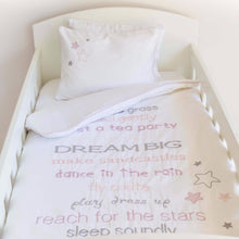 Dream Big Cot Duvet Set - pink - Babes & Kids Cot Baby Bedding