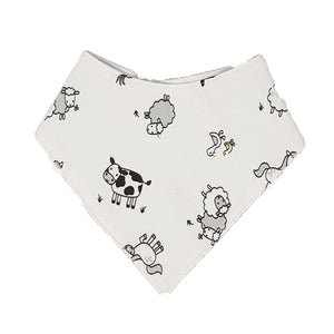 little acorn | Waterproof Farm Animals Bandana Dribble Bib