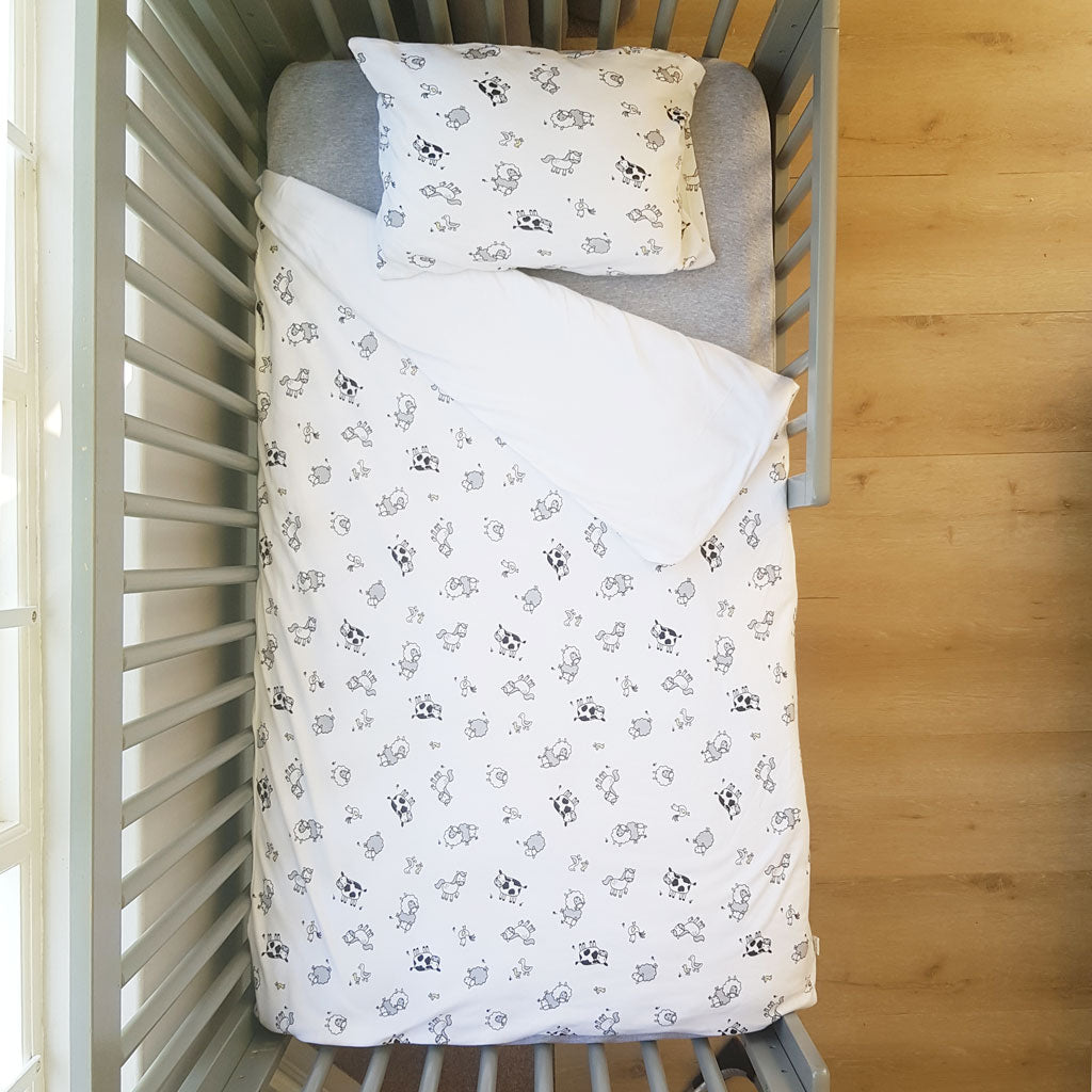 little acorn | Farmyard Cot Duvet Set - Babes & Kids Cot Baby Bedding