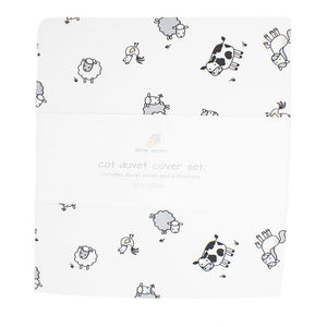 little acorn | Farmyard Cot Duvet Cover Set