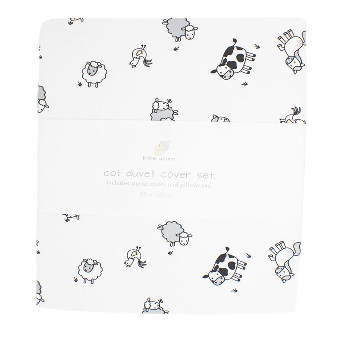 little acorn | Farm Animals Cot Duvet Cover Set