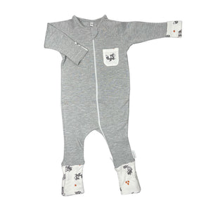 little acorn | *Limited edition* Grey Melange Woodland Animals Zippy Grow