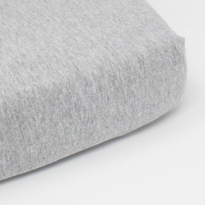 little acorn | Grey Melange Cot Fitted Sheet - Babes & Kids Cot Baby Bedding