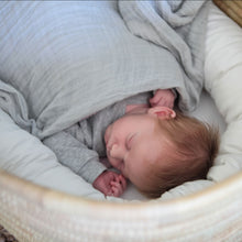 100% Cotton Grey Muslin Swaddle