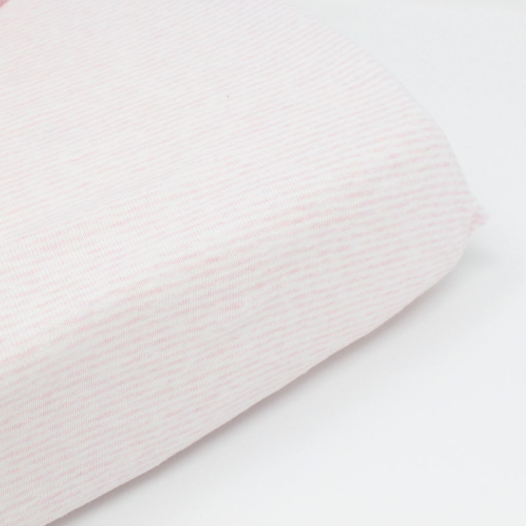 little acorn | Pink Stripe Cot Fitted Sheet - Babes & Kids Cot Baby Bedding