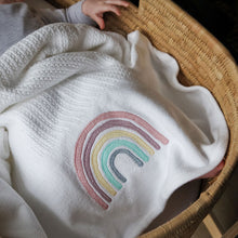 Rainbow Cellular Cotton Baby Blanket