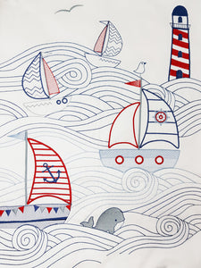 Set Sail Cot Duvet Set - Babes & Kids Cot Baby Bedding
