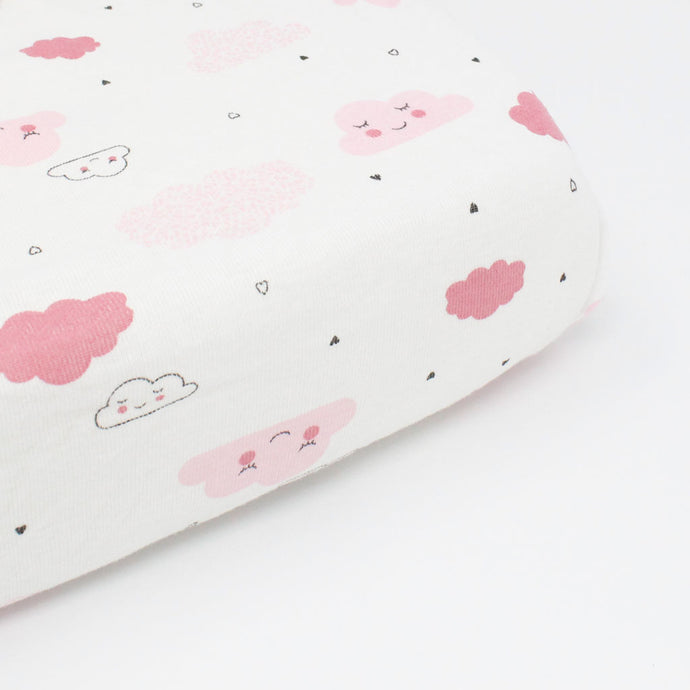 little acorn | Sleepy Clouds Cot Fitted Sheet