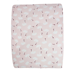 little acorn | Swan Changing Mat Cover