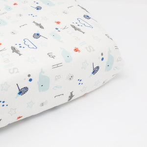 little acorn | Under the Sea Cot Fitted Sheet