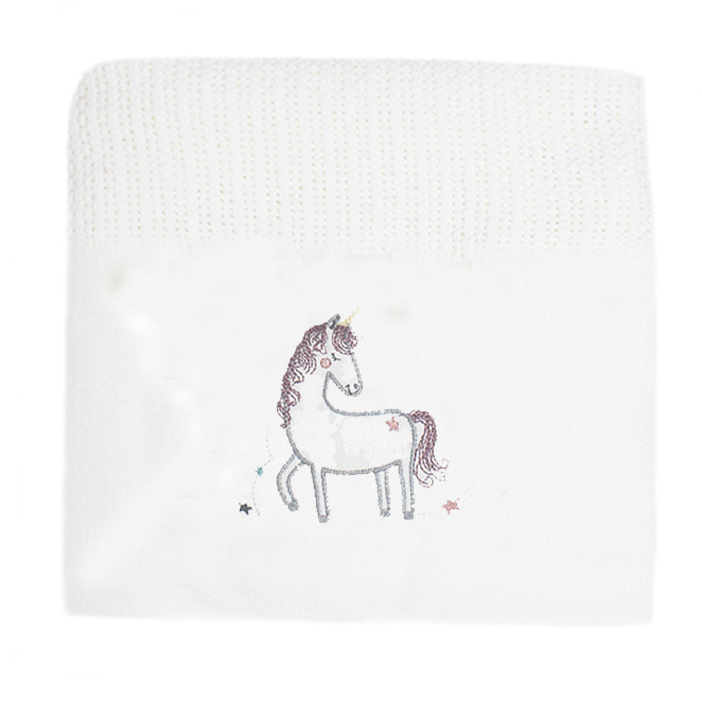 Unicorn Cellular Cotton Baby Blanket