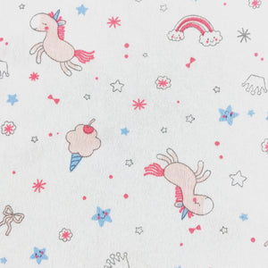 little acorn | Unicorn Wishes Cot Fitted Sheet