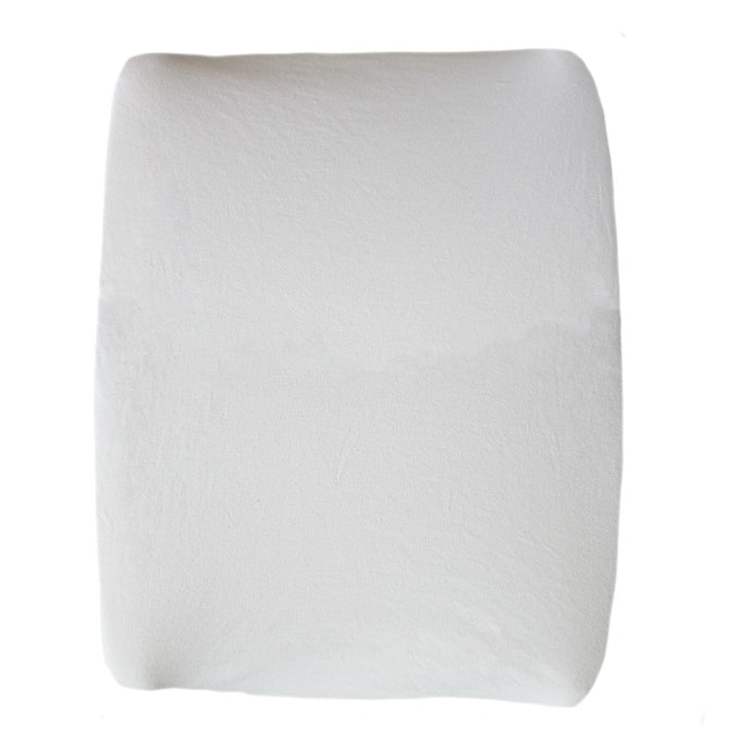 White cotton jersey changing mat cover