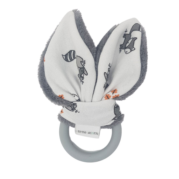 little acorn | Woodlands Silicone Teether (grey or white)